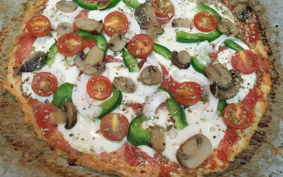 Pizza base pollo