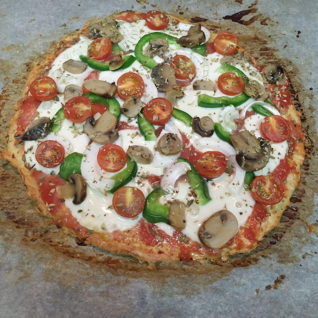 Pizza base pollo ciberrubia